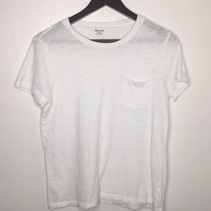 Madewell White Crewneck Pocket T-Shirt SzM